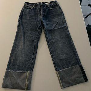 Anthropologie Boyfriend Crop Jeans